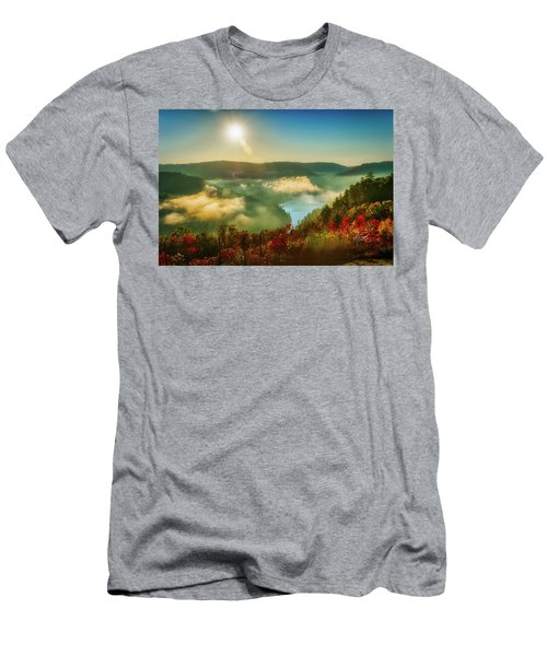 Men's T-Shirt (Athletic Fit) featuring the photograph Gorge Sunrise by Meta Gatschenberger