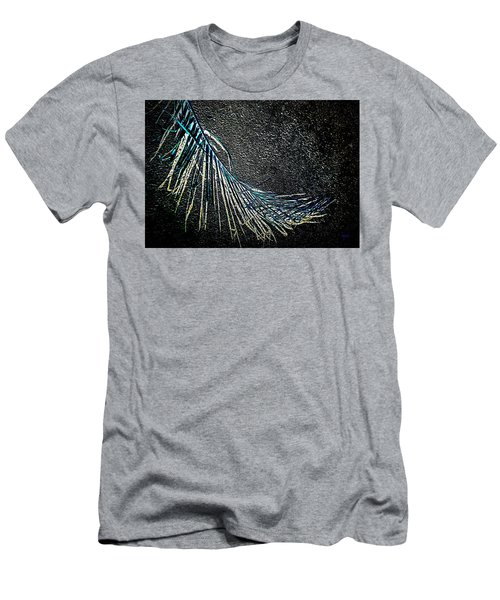 Graceful Frond In Blue Men's T-Shirt (Athletic Fit)