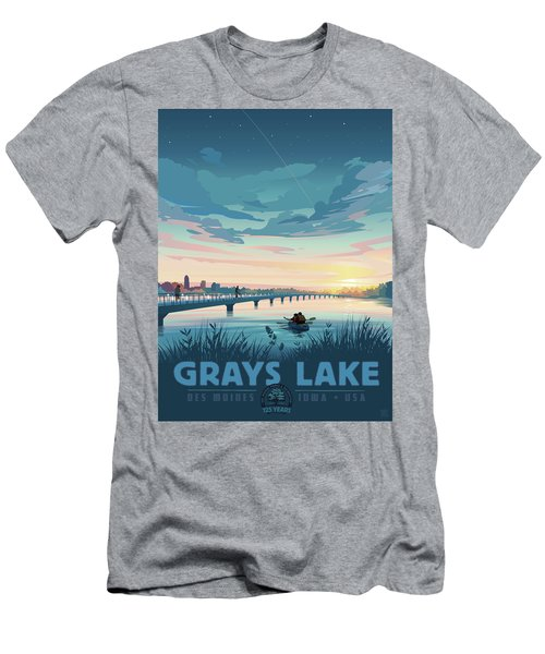 Men's T-Shirt (Athletic Fit) featuring the drawing Grays Lake by Clint Hansen