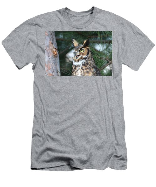 Great Horned Owl 5151801 Men's T-Shirt (Athletic Fit)