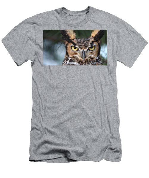 Great Horned Owl Eyes 51518 Men's T-Shirt (Athletic Fit)