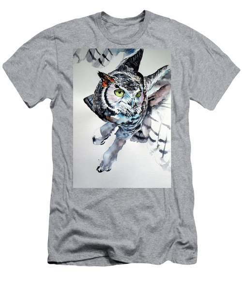 Great Horned Owl F Men's T-Shirt (Athletic Fit)