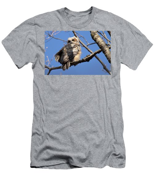 Great Horned Owlet 42915 Men's T-Shirt (Athletic Fit)