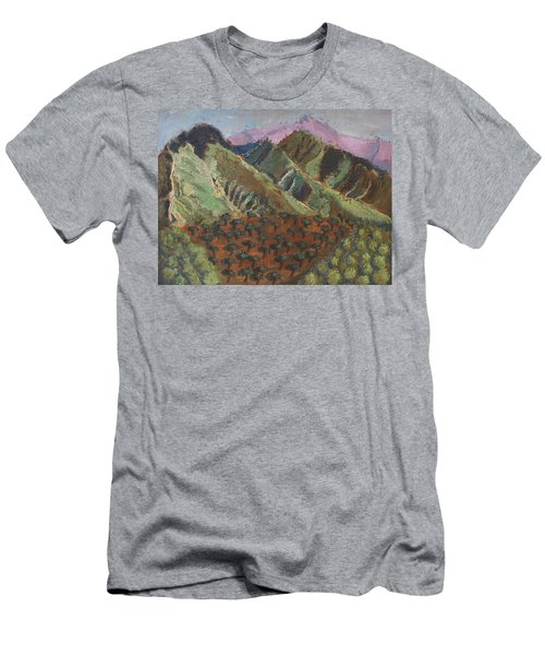 Green Canigou Men's T-Shirt (Athletic Fit)