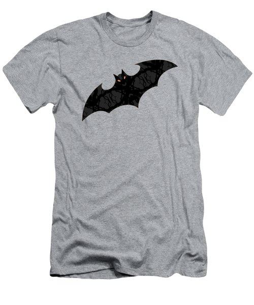 Men's T-Shirt (Athletic Fit) featuring the mixed media Halloween Bats In Flight by Rachel Hannah