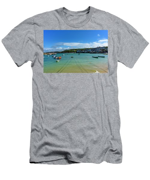 Harbour To Porthminster St Ives Cornwall Men's T-Shirt (Athletic Fit)