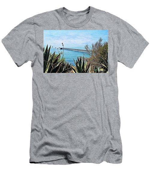 Haskell Beach Pier Men's T-Shirt (Athletic Fit)