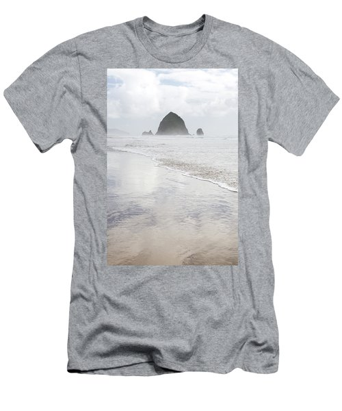 Men's T-Shirt (Athletic Fit) featuring the photograph Haystack Rock by Tim Newton