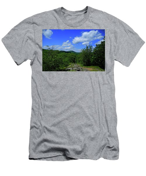 Men's T-Shirt (Athletic Fit) featuring the photograph Heading Bear Mountain Connecticut On The Appalachian Trail by Raymond Salani III