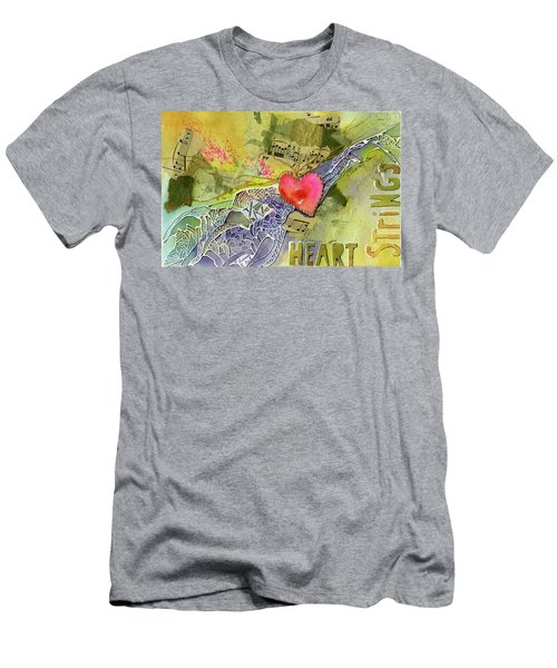 Heart Strings Men's T-Shirt (Athletic Fit)