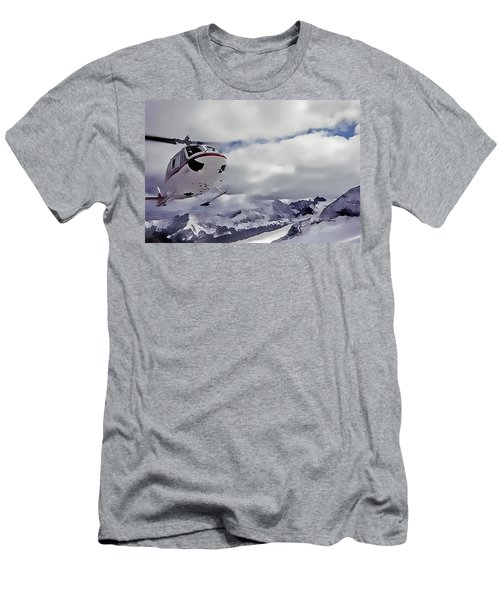 Helihiking In The Canadian Rockies Men's T-Shirt (Athletic Fit)