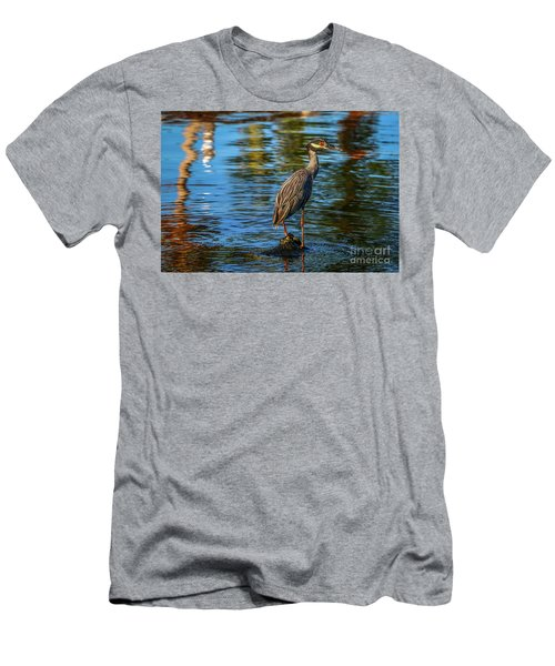Heron On Rock Men's T-Shirt (Athletic Fit)