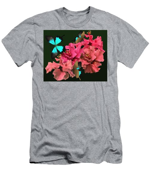 Hibiscus Butterfly Joy Men's T-Shirt (Athletic Fit)