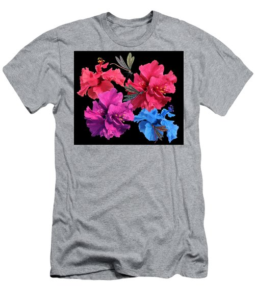 Hibiscus Dragonfly Men's T-Shirt (Athletic Fit)