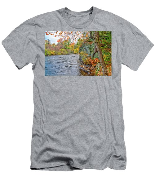 Hogback Dam Pool Men's T-Shirt (Athletic Fit)