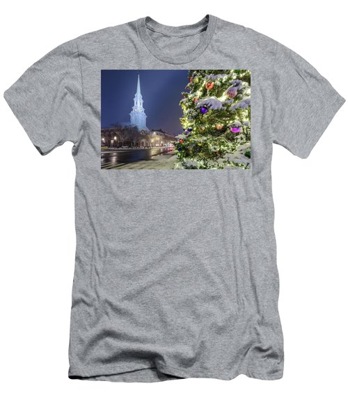 Holiday Snow, Market Square Men's T-Shirt (Athletic Fit)