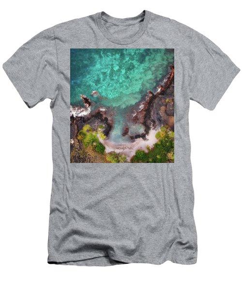 Honokohau Harbor Beach Aerial Men's T-Shirt (Athletic Fit)
