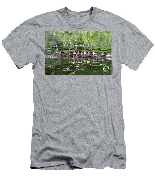 Hooded Merganser Ducklings Dwf0203 Men's T-Shirt (Athletic Fit)