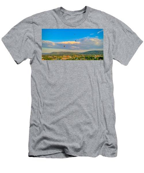 Hot Air Ballon Cluster Men's T-Shirt (Athletic Fit)