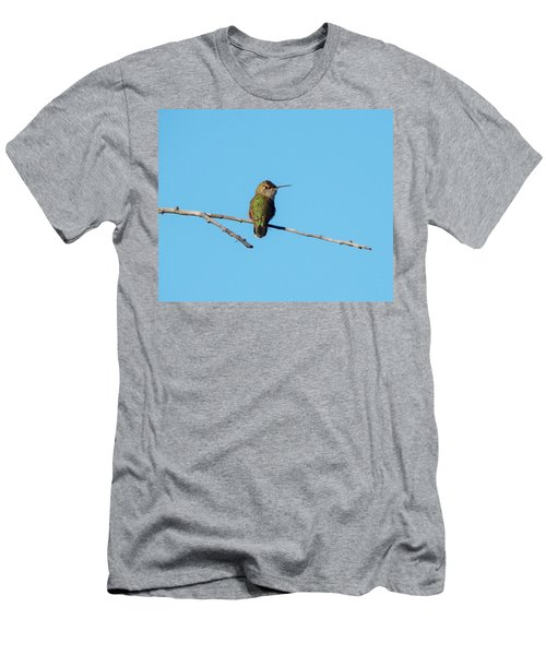 Men's T-Shirt (Athletic Fit) featuring the photograph Hummingbird by Lukas Miller