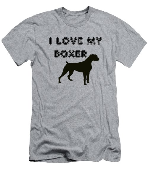 I Love My Boxer Men's T-Shirt (Athletic Fit)