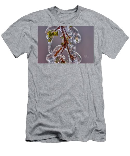 Men's T-Shirt (Athletic Fit) featuring the photograph Ice Capsule by Meta Gatschenberger