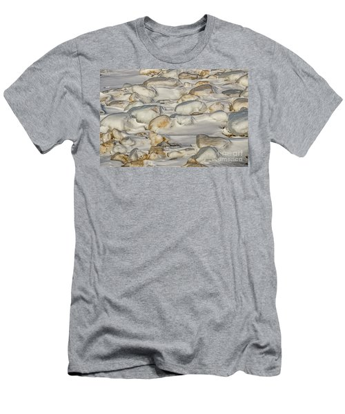 Ice Covered Snow And Sand Men's T-Shirt (Athletic Fit)