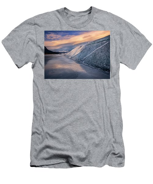 Ice Sheets On Abraham Lake Men's T-Shirt (Athletic Fit)