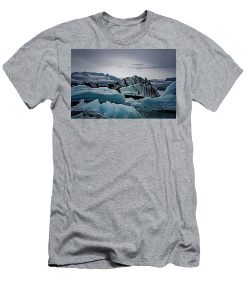 Icy Stegosaurus Men's T-Shirt (Athletic Fit)