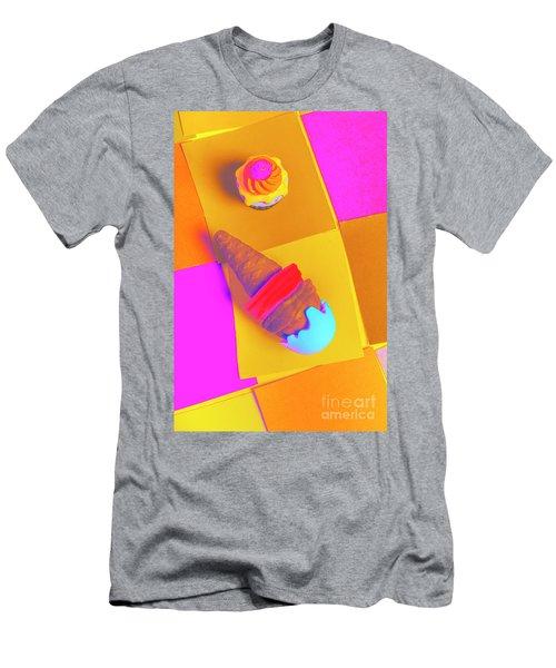 In Bubblegum Tones Men's T-Shirt (Athletic Fit)