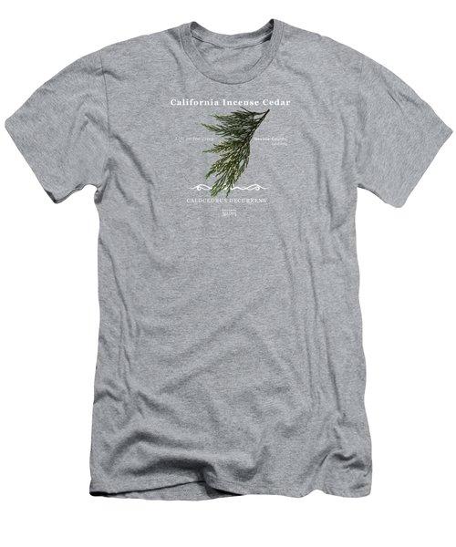 Incense Cedar - White Text Men's T-Shirt (Athletic Fit)