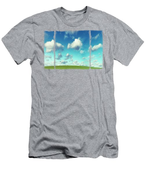 Infinity - Green Land And Summer Sky Men's T-Shirt (Athletic Fit)