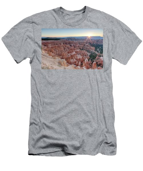 Inspiration Point Sunrise Bryce Canyon National Park Summer Solstice Men's T-Shirt (Athletic Fit)