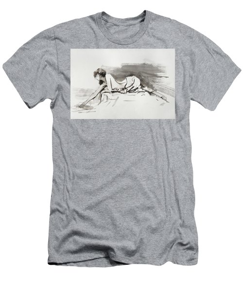 Men's T-Shirt (Athletic Fit) featuring the painting Introspection by Steve Henderson