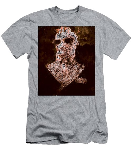Men's T-Shirt (Athletic Fit) featuring the mixed media The Invisible Man by Al Matra