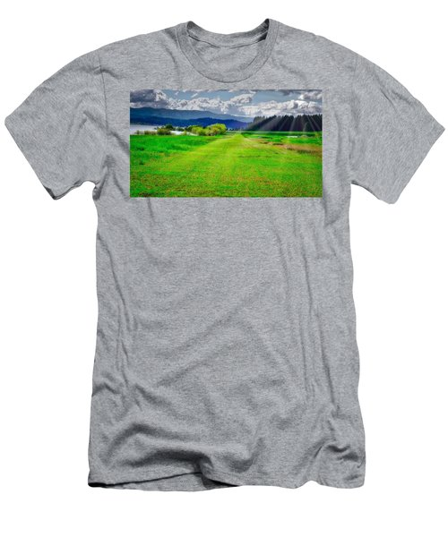 Inviting Airstrip Men's T-Shirt (Athletic Fit)