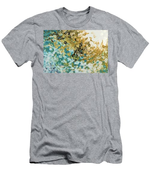 Men's T-Shirt (Athletic Fit) featuring the painting Isaiah 26 3. In Perfect Peace by Mark Lawrence