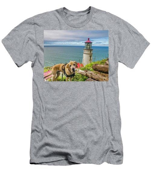 Jackson At Heceta Head Lighthouse Men's T-Shirt (Athletic Fit)