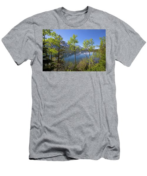 Men's T-Shirt (Athletic Fit) featuring the photograph Jackson Lake by Sue Collura