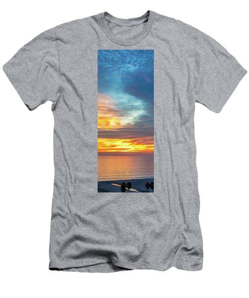 January Sunset - Vertirama Men's T-Shirt (Athletic Fit)