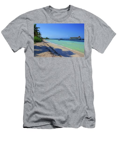 Jetty On Isla Contoy Men's T-Shirt (Athletic Fit)