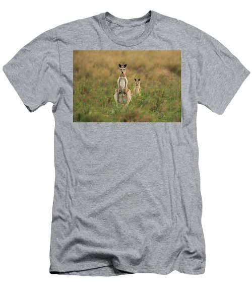 Men's T-Shirt (Athletic Fit) featuring the photograph Kangaroos In The Countryside by Rob D Imagery