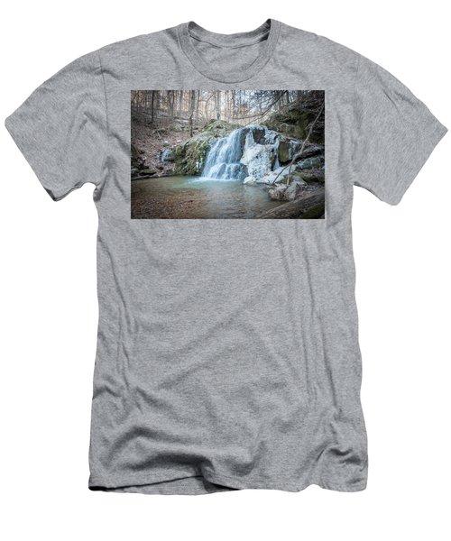 Kilgore Falls In Winter Men's T-Shirt (Athletic Fit)