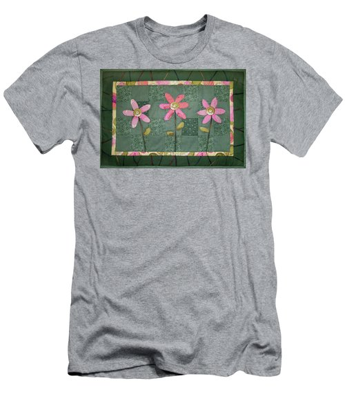 Kiwi Flowers Men's T-Shirt (Athletic Fit)