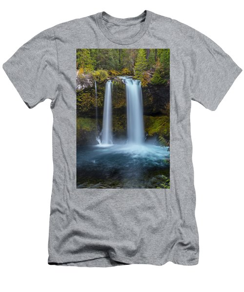 Men's T-Shirt (Athletic Fit) featuring the photograph Koosha Falls In Fall by Matthew Irvin