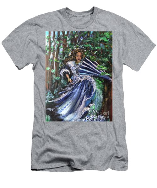 Lady In Forest Men's T-Shirt (Athletic Fit)