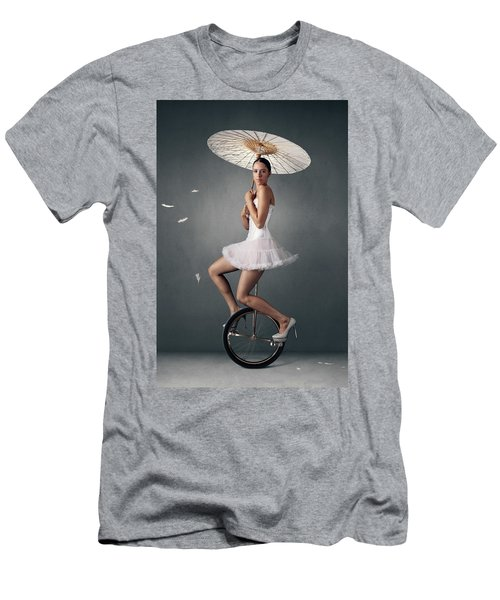 Lady On A Unicycle Men's T-Shirt (Athletic Fit)
