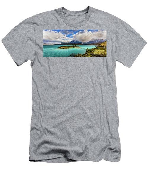 Lago Pehoe, Chile Men's T-Shirt (Athletic Fit)