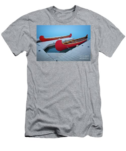 Lake Louise Two Canoes Men's T-Shirt (Athletic Fit)