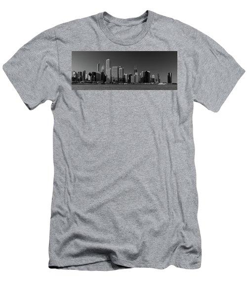 Lakefront Chicago B W Men's T-Shirt (Athletic Fit)